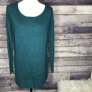 Mossimo Long Teal Sweater